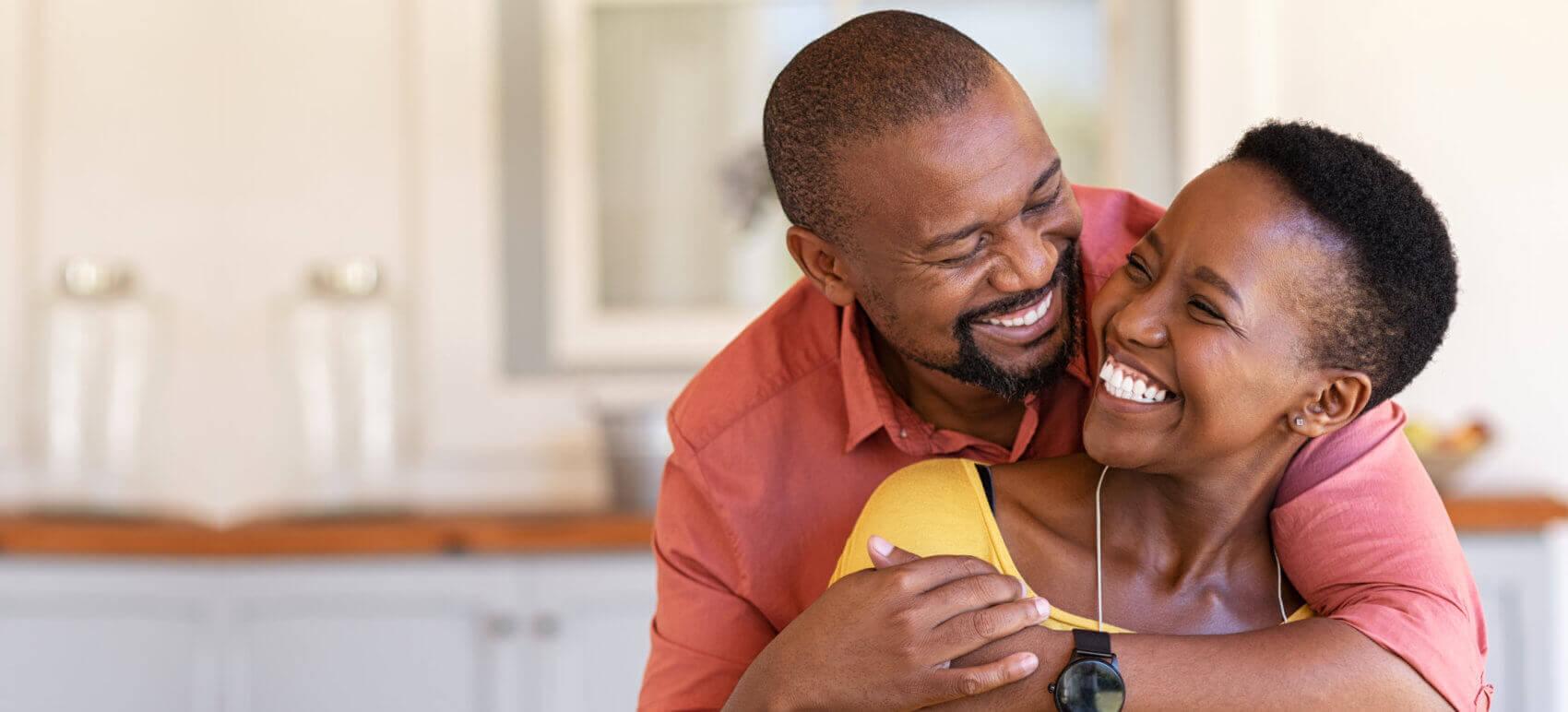 couple having happy moment