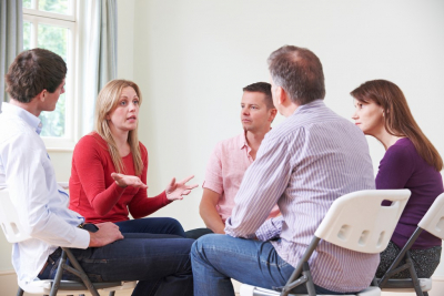 group of people doing meeting